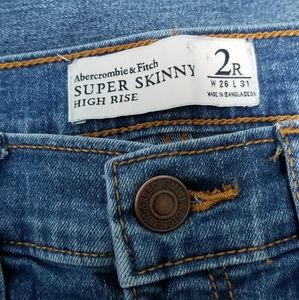 ABERCROMBIE & FITCH | SKINNY HIGH RISE, SZ 2R